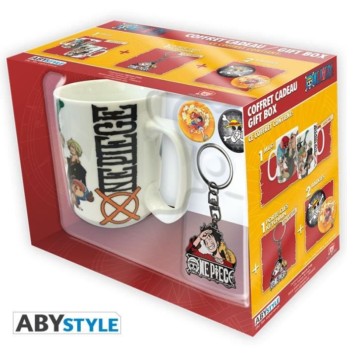 Pack Mug + Porte-clés + Badges One Piece - New World - ABYstyle