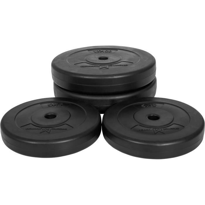 E-Series Lot de 4 disques poids total 30kg M