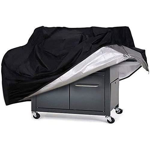 Housse de Barbecue Couverture de Gril Gaz KHDZ Grill Housse de BBQ Protection Noir Oxford 100% Eacutetanche Coupe-Vent avec Cordon