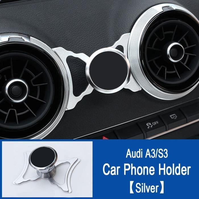 Support pour téléphone de voiture pour Audi A3 S3 8V Support d'évent Support de style de voiture Support GPS Support - Type Silver