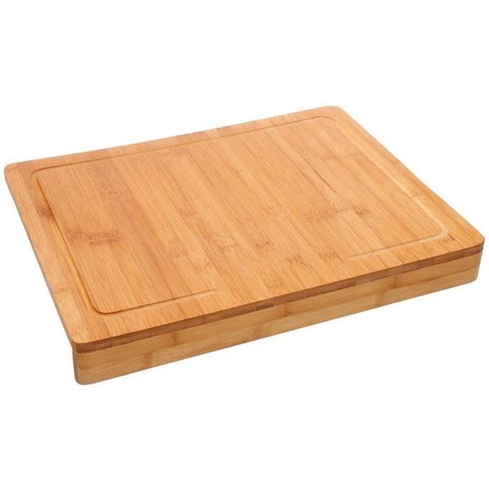 PLANCHE A DECOUPER PEGANE Planche agrave deacutecouper avec Rebord en Bambou Coloris Naturel Dim L 45 x l 345 cm470