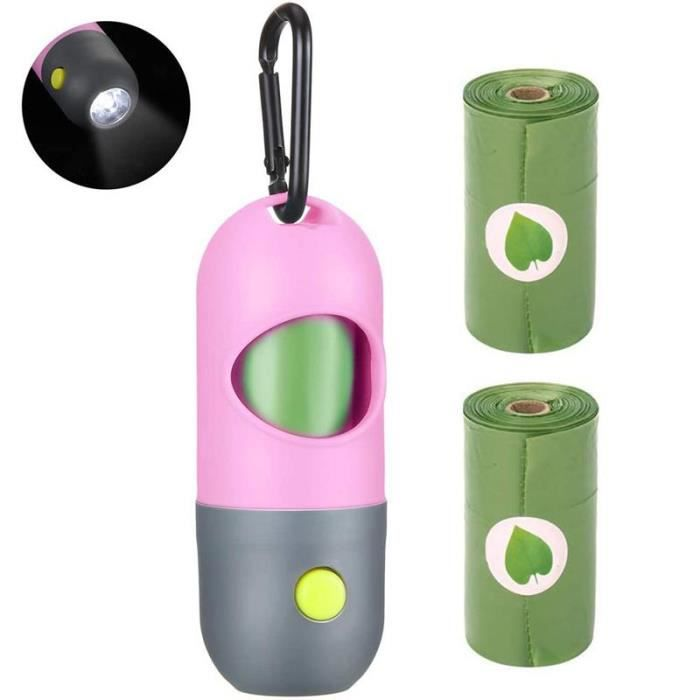 Ramasse crotte,LED Chien Merde Sacs de Ramassage Accessoires Pour animaux de compagnie produits chien caca sac Sacs De -A