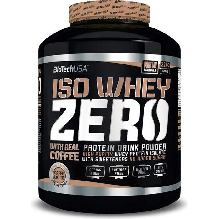 Iso Whey Zero 2.27kg CAFFE LATTE Proteine ISOLATE 2270g Biotech USA Café