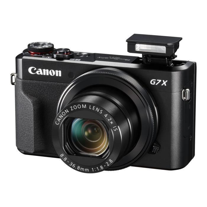 Canon PowerShot G7 X Mark II Appareil photo numérique compact 20.1 MP 1080p - 59.95 pi-s 4.2x zoom optique Wi-Fi, NFC