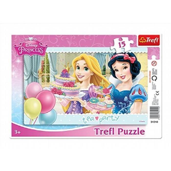Disney Princess 31210 - Cadre De Puzzle - Disney Princess - Tea Party - 15 Pièces ARM4F