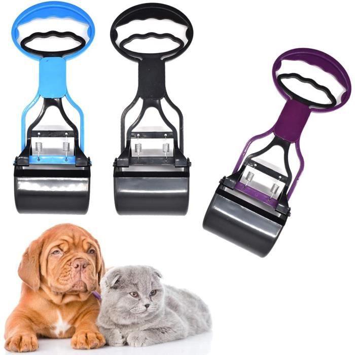 3 Pièces Pelle Ramasse Crottes Portable Pelle à Déjections Canines Pet Pooper Scoopers pour Extérieur/Intérieur Chien et Chat Animal