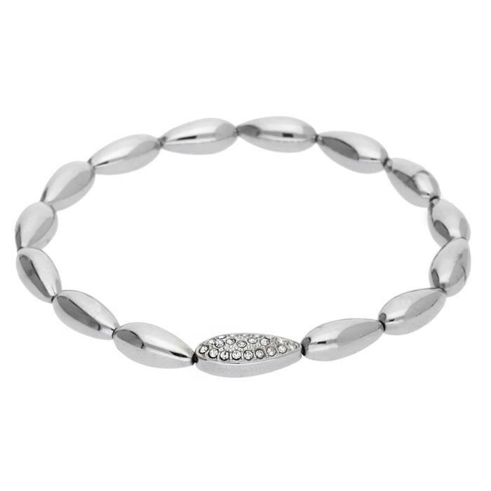 Esprit Femmes Stretch-Bracelet Acier inoxydable Argent ESBR11879A165