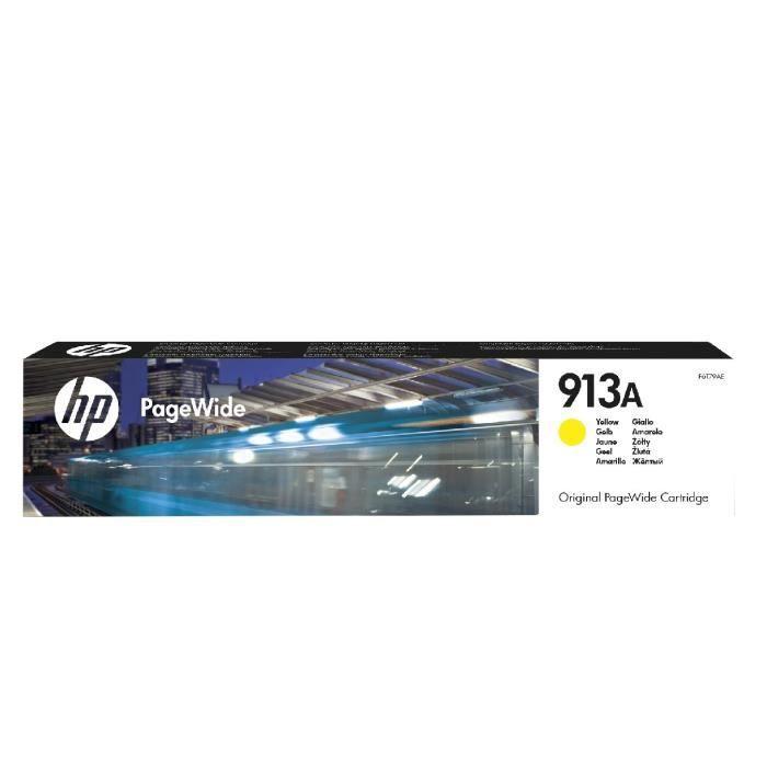 HP 913A cartouche d'encre jaune authentique pour HP PageWide 377/452/477 (F6T79AE)
