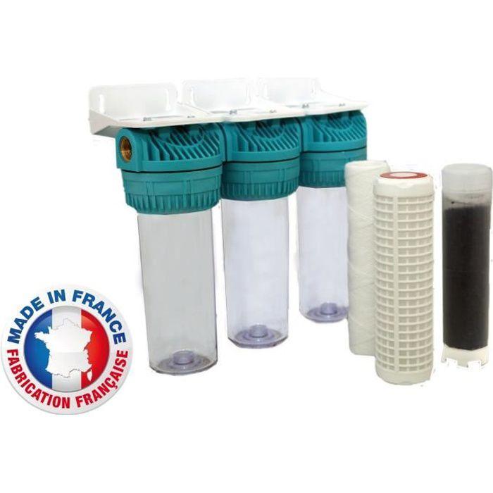AQUAWATER Station de filtration triple pour eau de pluie