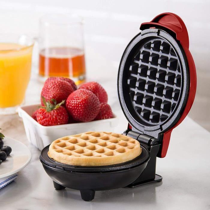 Mini gaufrier rouge, biscuit italien déjeuner ou snack, machine de cuisson pour enfants domestiques, machine à gâteaux multifonction