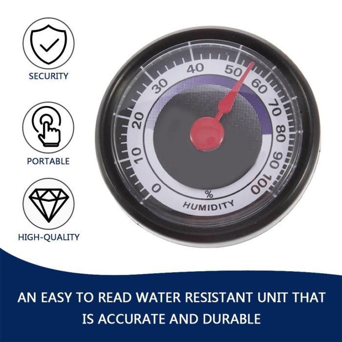 Humidimètre analogique hygromètre durable précis portable intérieur extérieur~P°