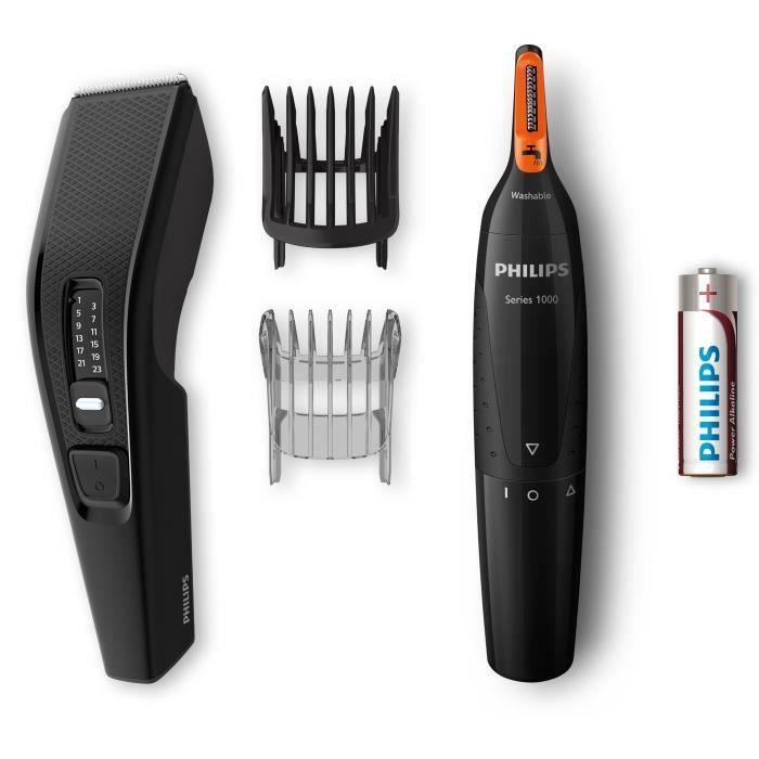 PHILIPS HC3510/85 Tondeuse Cheveux et Barbes - 13 hauteurs de coupes + Tondeuse Nez-Oreilles