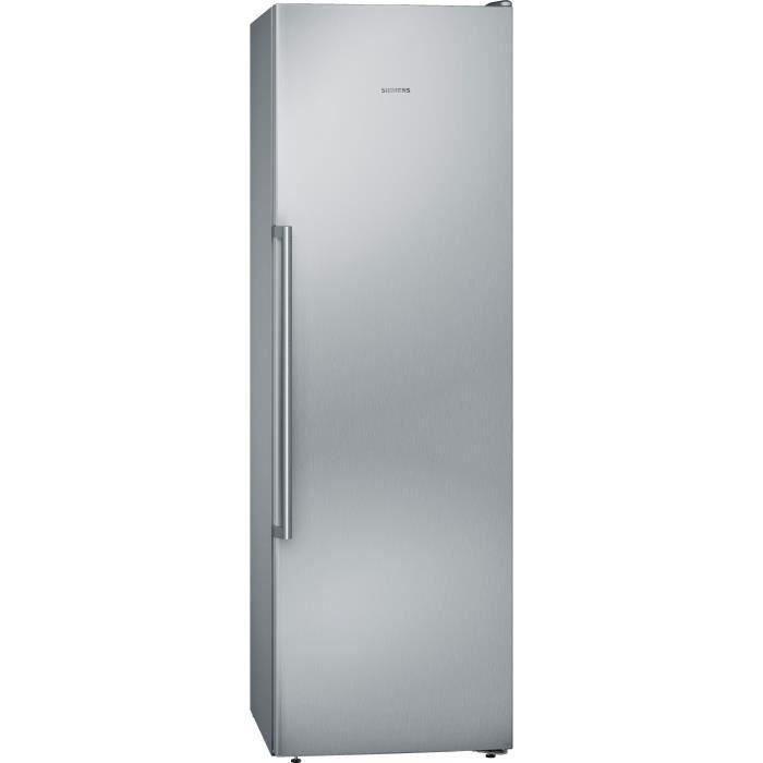 SIEMENS GS36NAIEP - Congélateur armoire - 242 L - Froid no frost multiairflow - L 60 x H 186 cm - Inox easyclean