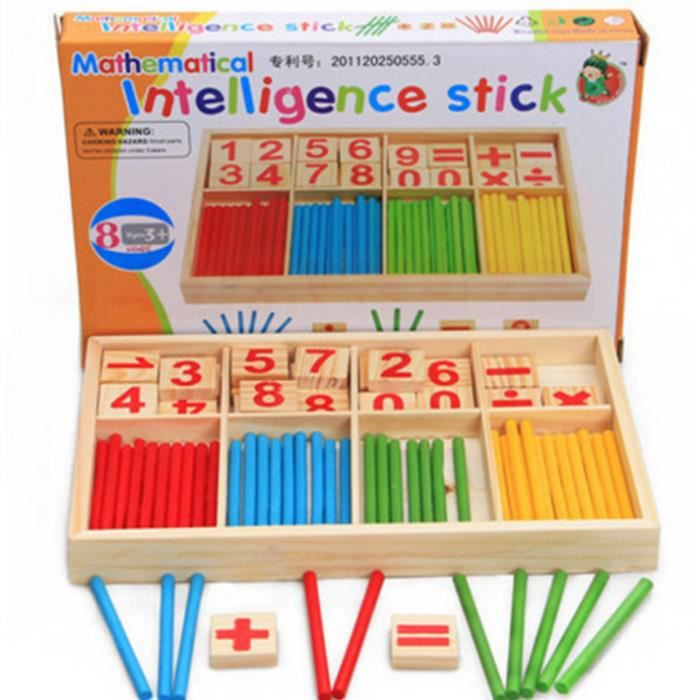 Enfants en bois comptant des écoles maternelles Supports pédagogiques pour mathématiques Montessori