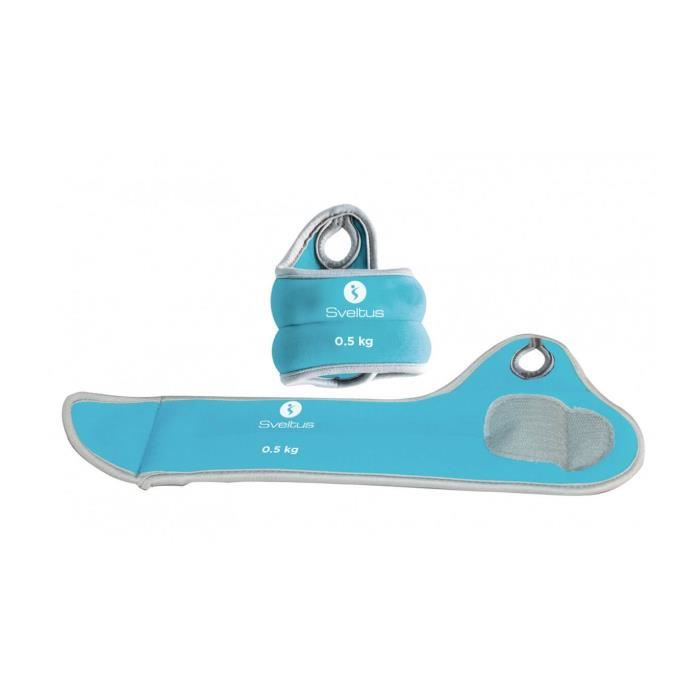 Bracelets lestés poignets Sveltus 500gr (x2) - bleu - TU Training