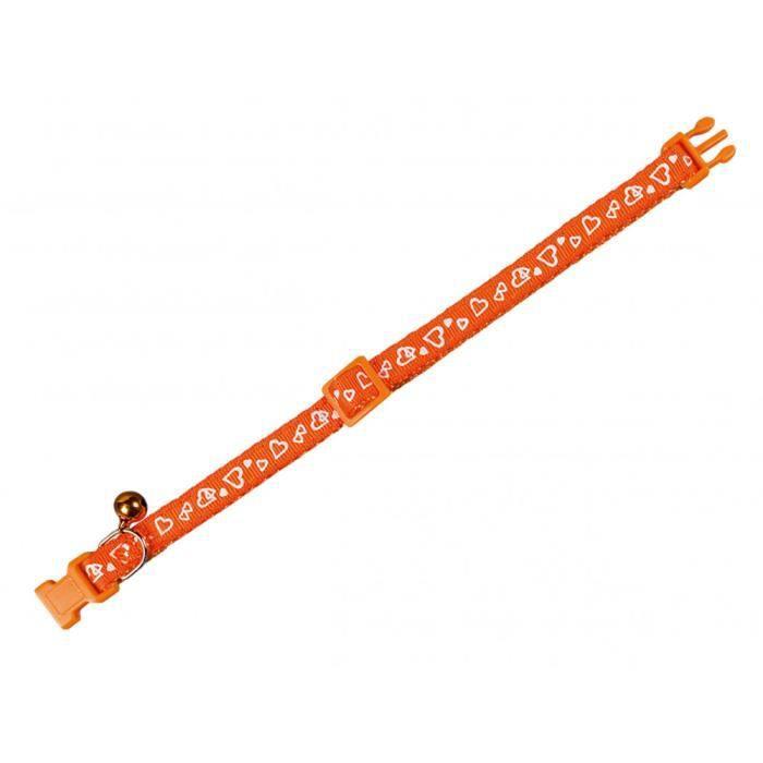 Collier chat. COEUR orange. 20-30cm x 10mm.-Vadigran 3,000000 Orange