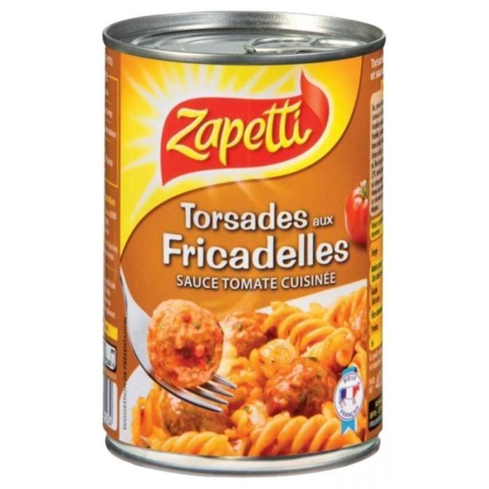 Zapetti Torsades Aux Fricadelles 400g (lot de 6)