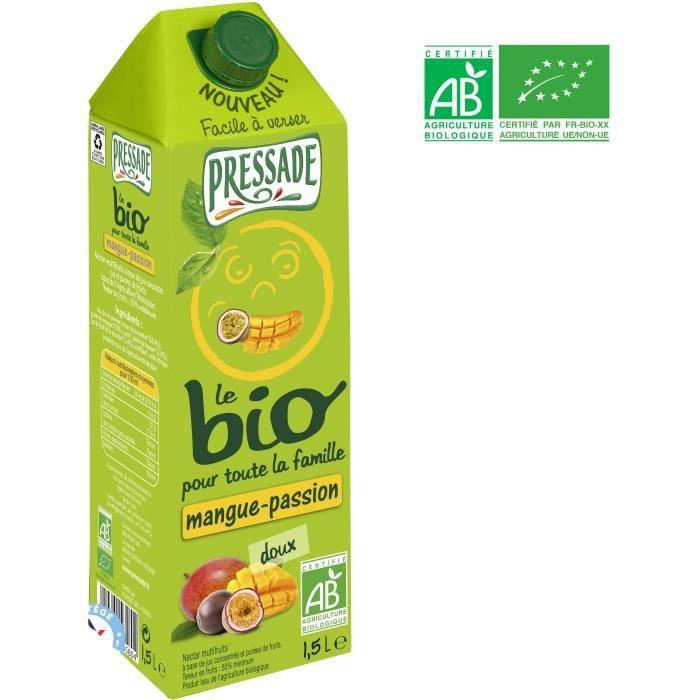 PRESSADE Nectar de mangue passion bio - 1,5 l