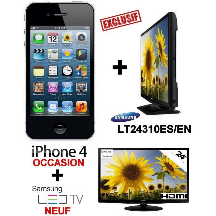 coffret tv apple samsung iphone 4 noir 8go occasion tv led neuf samsung 24 pouces. Black Bedroom Furniture Sets. Home Design Ideas