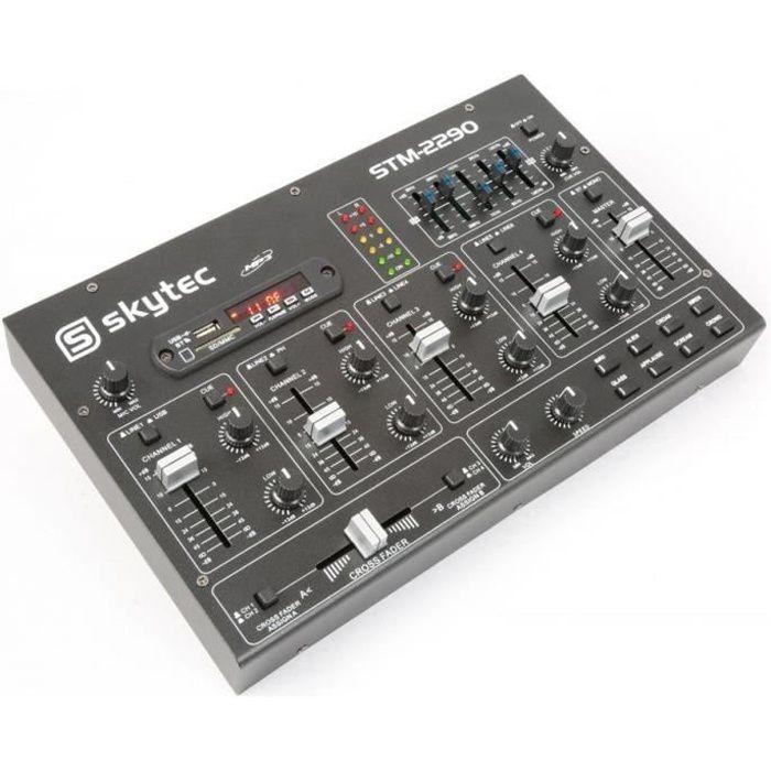 TABLE DE MIXAGE TABLE DE MIXAGE MIXER DJ 6 CANAUX BLUETOOTH USB CA
