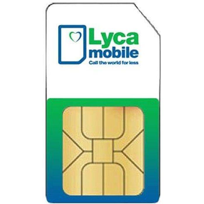 Carte Sim Lyca Mobile 0 Credit Achat Carte Sim Pas Cher Avis Et Meilleur Prix Cdiscount