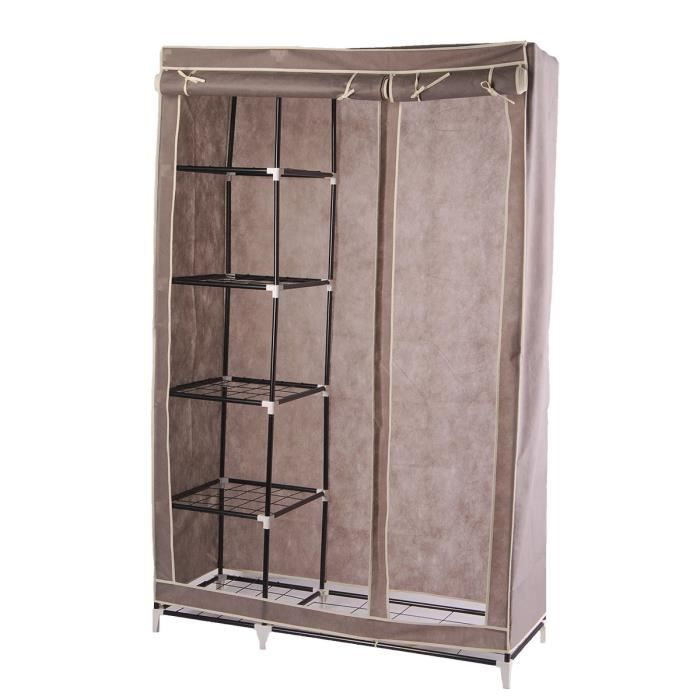 armoire en m tal taupe 178cm achat vente armoire de chambre armoire en m tal taupe 178c. Black Bedroom Furniture Sets. Home Design Ideas