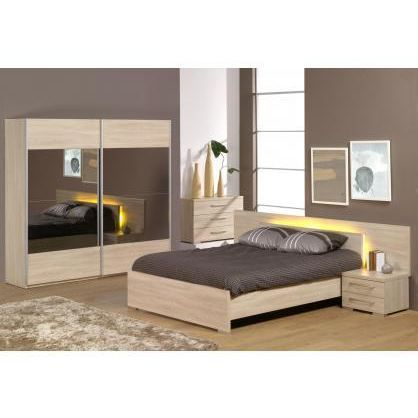 Chambre adulte compl te alicia iii 160x200cm achat for Chambre complete adulte but