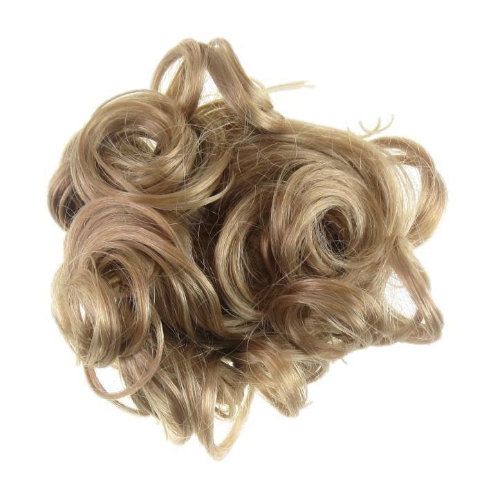 Chignon Coiffure Haute Boucle Frise Pour Ajouter Du Volume Blond Miel Achat Vente Perruque Postiche Chignon Coiffure Haute Bouc Cdiscount