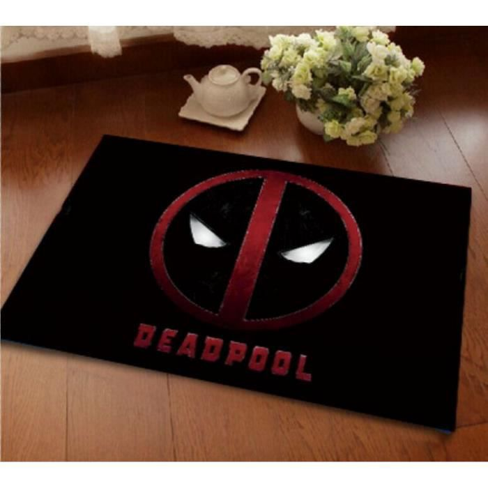 deadpool tapis de salon shaggy 80mm 40x60 cm achat vente tapis soldes cdiscount. Black Bedroom Furniture Sets. Home Design Ideas
