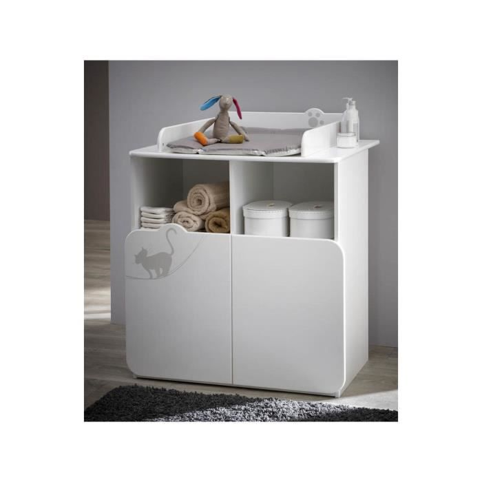 commode table langer kitty 87 x 73 x 101 cm blanc