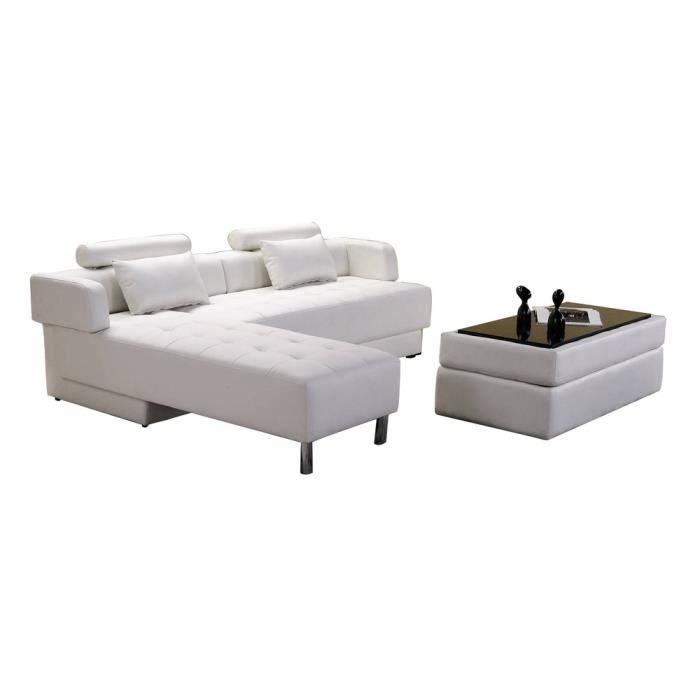 canap d angle alexender r versible et convertible blanc 5. Black Bedroom Furniture Sets. Home Design Ideas