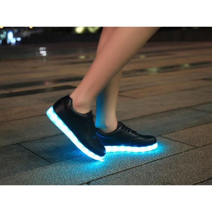 BASKET Unisex Homme Femme Chaussure LED light Lumire U...