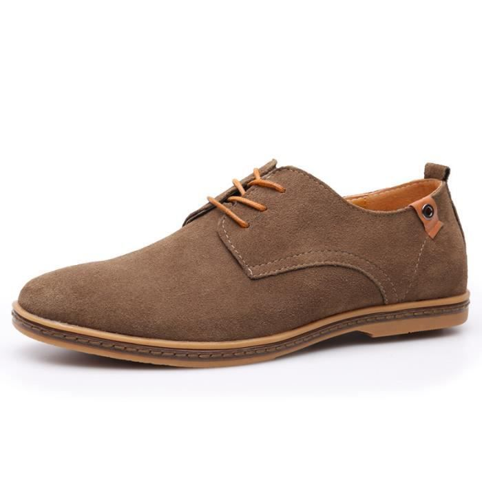 Chaussure Mocassins homme , Suede classic oxford chaussures cuir homme