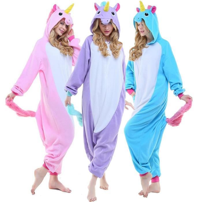 kigurumi pyjamas licorne violet grenoulli re combinaison adulte violet achat vente. Black Bedroom Furniture Sets. Home Design Ideas