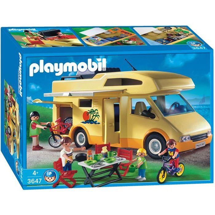 UNIVERS MINIATURE PLAYMOBIL 3647 Famille Camping Car