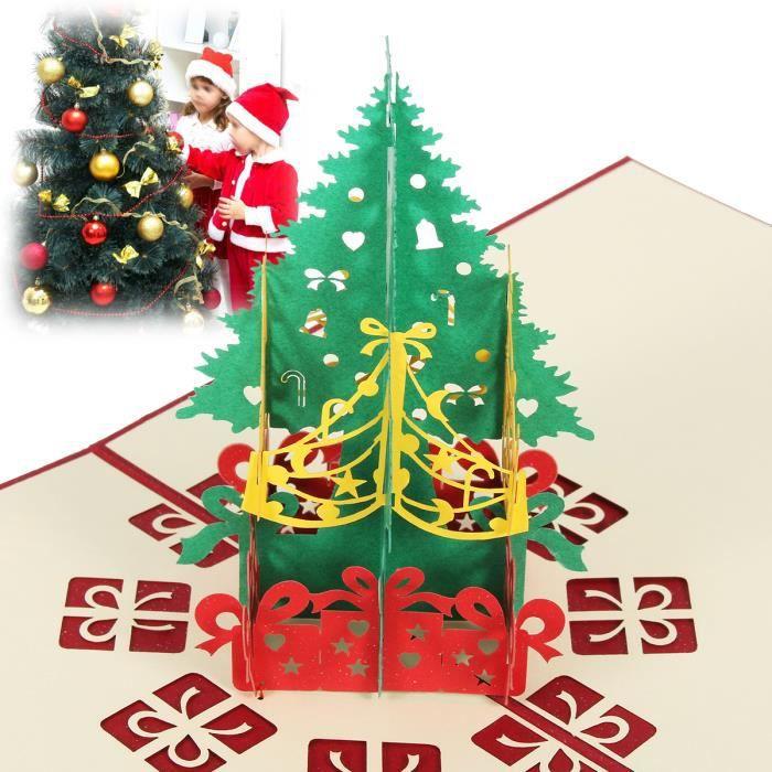 TEMPSA 3D Carte Voeux Noël Pop Up Bonne Année Enveloppe Carte