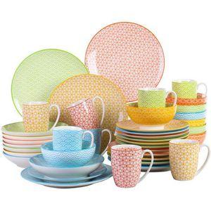 SERVICE COMPLET Vancasso NATSUKI 40pcs Service de Table Porcelaine