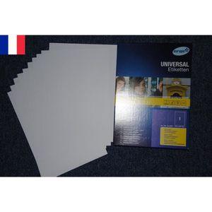 Étiquette classement 100 Feuilles Autocollante Papier Etiquette A4 21 x