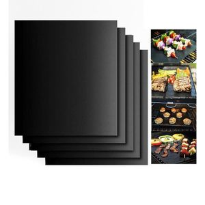 FEUILLE DE CUISSON  5 PCS Tapis de Cuisson Barbecue Anti-adhérent Réut