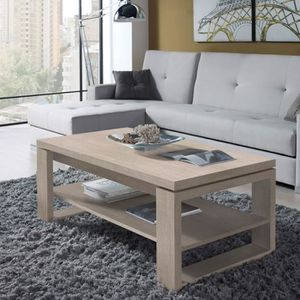 TABLE BASSE Table basse chêne clair relevable - REENA  - Taill