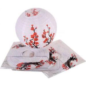 LANTERNE FANTAISIE Lot De 4 Lampions Boule Chinois - Motif Fleurs De