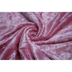 TISSU Tissu Panne de Velours Rose -Au Mètre