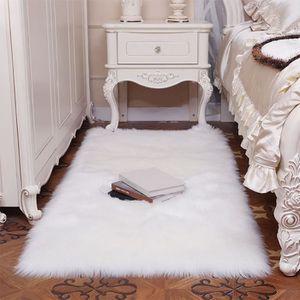 TAPIS Tapis artificiel doux Couverture de tapis de chamb