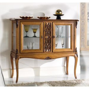 petit meuble vitrine achat vente petit meuble vitrine pas cher cdiscount. Black Bedroom Furniture Sets. Home Design Ideas