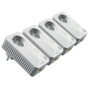 COURANT PORTEUR - CPL STRONG Kit 4 adaptateurs CPL filaire 500 Mbit/s -