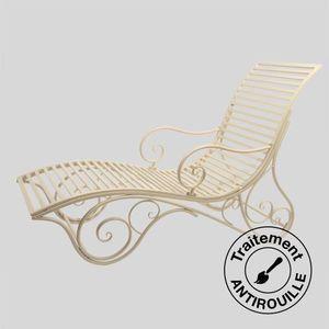 Lit de jardin style fer forgé Ecru - Achat / Vente chaise ...