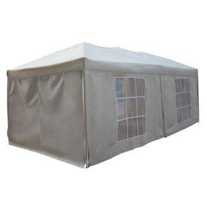 TONNELLE - BARNUM Tente de réception MISTRAL pliante 3x6m Beige avec