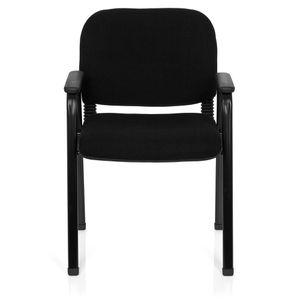 CHAISE DE BUREAU Chaise visiteur / Chaise XT 650 noir/noir hjh OFFI