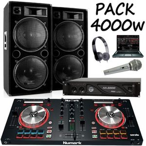 PACK SONO PACK SONO AMPLIFIÉ 2000W + CONTROLEUR PARTY MIX NU