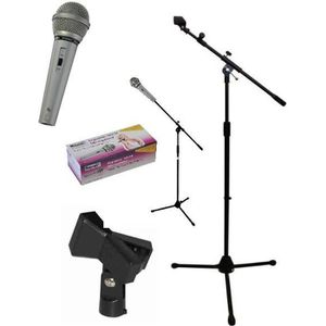 PACK SONO IBIZA SM007T Pied de microphone avec longue perche